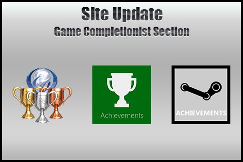 Site Update: Game Completionist Updated